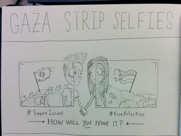 """""""Gaza Strip Selfies sketch"""""""